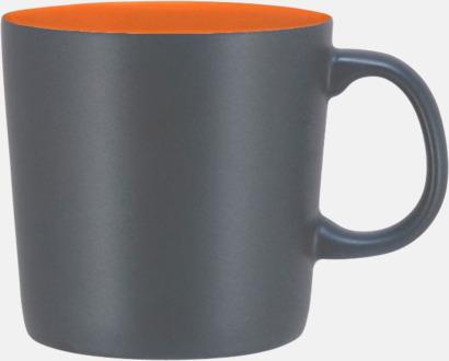 Grå/Orange (matt) Koppar med reklamtryck