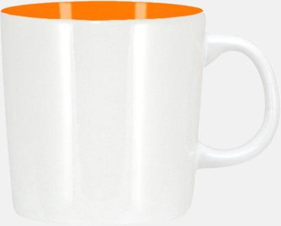 Vit/Orange (blank) Koppar med reklamtryck