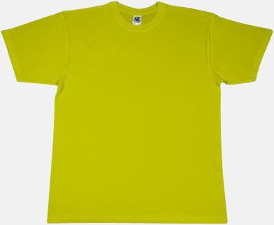Lime Extra fina t-shirts i herr-, dam- och barnmodell med reklamtryck