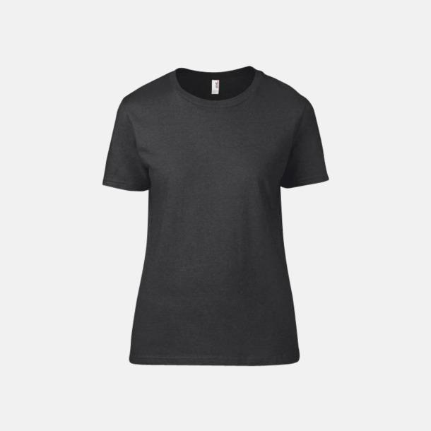 Heather Dark Grey (dam) Snygga bas t-shirts för herr & dam - med reklamtryck
