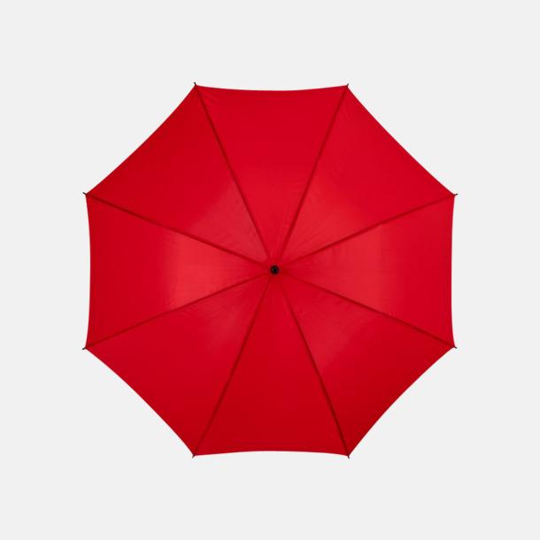 Röd Stora, automatiska paraplyer med reklamtryck