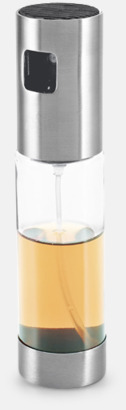 Transparent / Silver Olje- & vinägersprej med reklamlogo