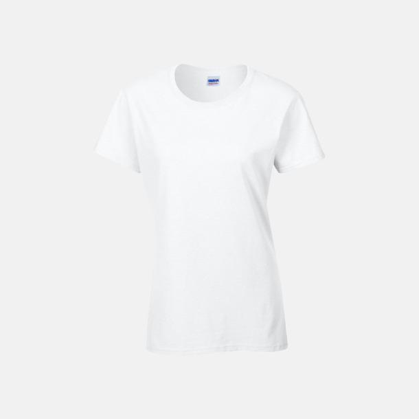 Vit (dam) Fina bomulls t-shirts för herr, dam & barn med reklamtryck