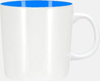 Vit/Blå (blank) Koppar med reklamtryck