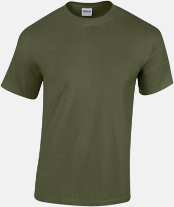Military Green (herr) Fina bomulls t-shirts för herr, dam & barn med reklamtryck