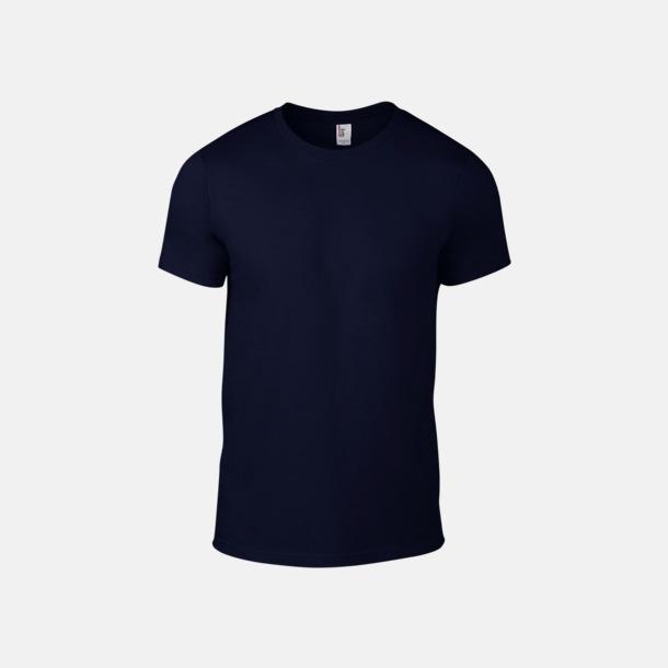 Marinblå (herr) Snygga bas t-shirts för herr & dam - med reklamtryck