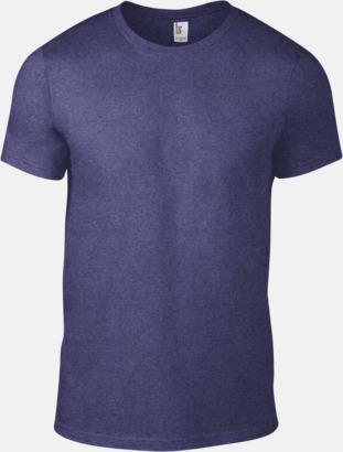 Heather Blue (herr) Snygga bas t-shirts för herr, dam & barn - med reklamtryck