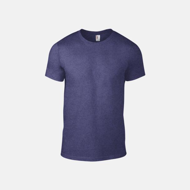 Heather Blue (herr) Snygga bas t-shirts för herr & dam - med reklamtryck