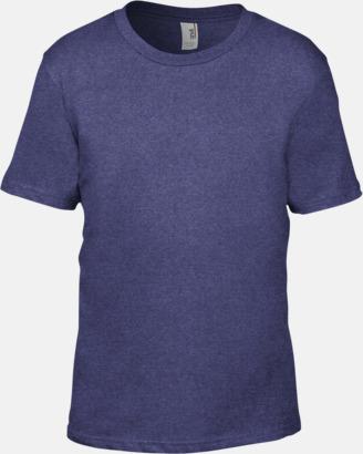 Heather Blue (barn) Snygga bas t-shirts för herr, dam & barn - med reklamtryck