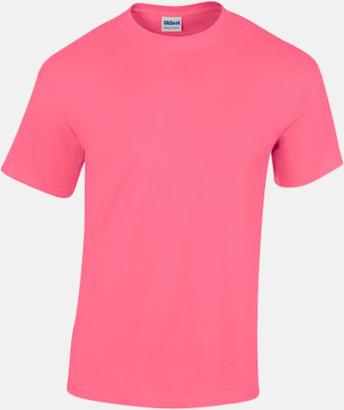 Safety Pink (herr) Fina bomulls t-shirts för herr, dam & barn med reklamtryck
