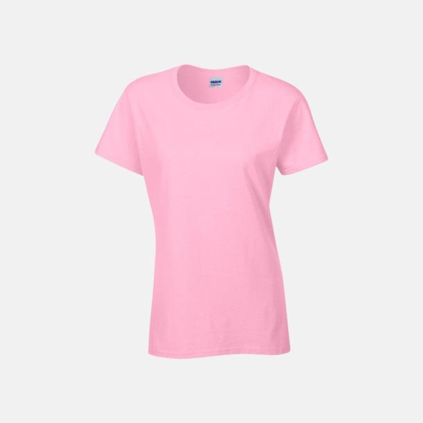 Ljusrosa (dam) Fina bomulls t-shirts för herr, dam & barn med reklamtryck