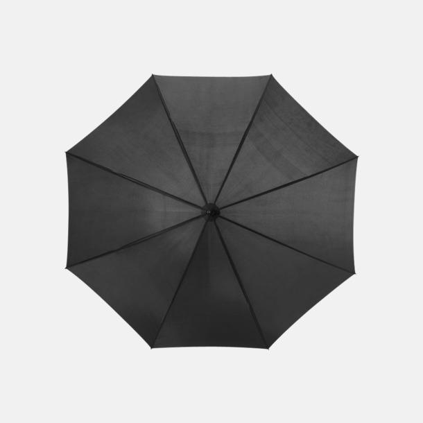 Svart Stora, automatiska paraplyer med reklamtryck