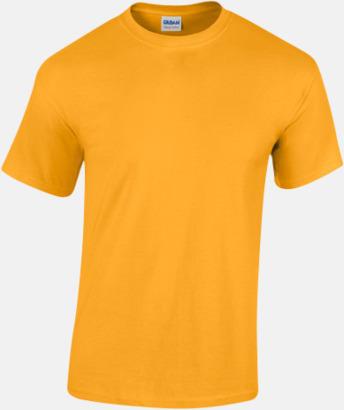 Gold (herr) Fina bomulls t-shirts för herr, dam & barn med reklamtryck