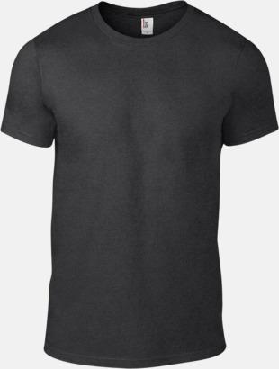 Heather Dark Grey (herr) Snygga bas t-shirts för herr, dam & barn - med reklamtryck