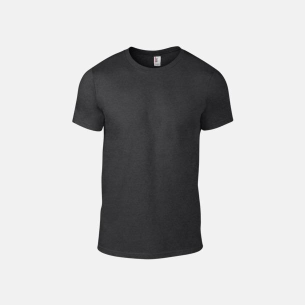 Heather Dark Grey (herr) Snygga bas t-shirts för herr & dam - med reklamtryck