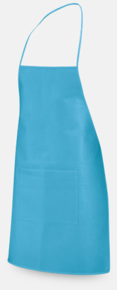 Ljusblå Billiga förkläden med reklamtryck
