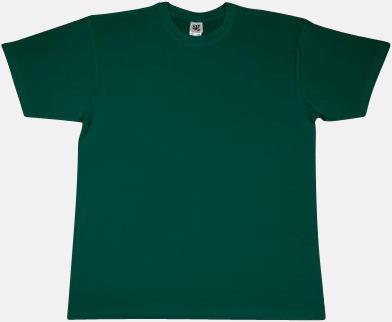 Bottle Green Extra fina t-shirts i herr-, dam- och barnmodell med reklamtryck