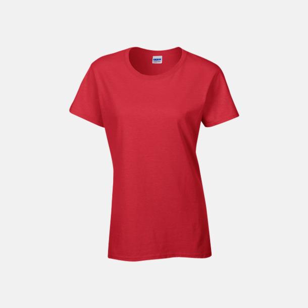 Röd (dam) Fina bomulls t-shirts för herr, dam & barn med reklamtryck