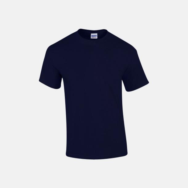 Marinblå (herr) Fina bomulls t-shirts för herr, dam & barn med reklamtryck