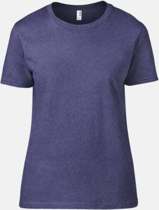 Heather Blue (dam) Snygga bas t-shirts för herr, dam & barn - med reklamtryck