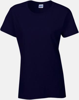 Marinblå (dam) Fina bomulls t-shirts för herr, dam & barn med reklamtryck