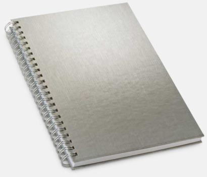 Silver Silverfärgade anteckningsböcker med reklamtryck