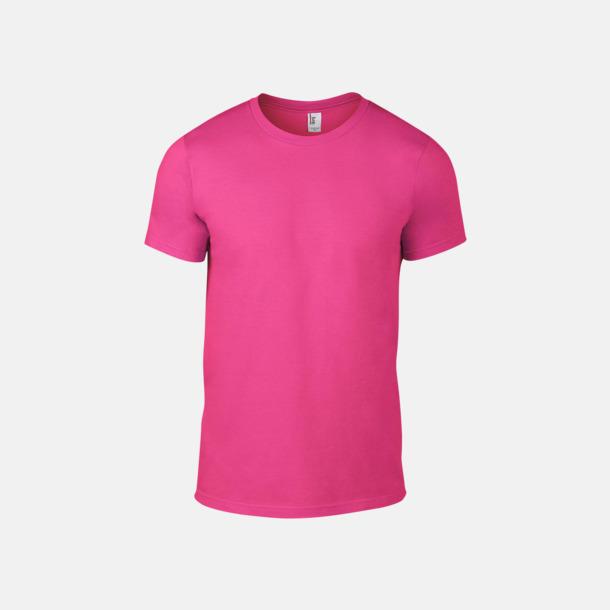 Neon Pink (herr) Snygga bas t-shirts för herr & dam - med reklamtryck