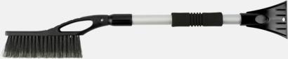 Silver / Svart Isskrapa & snöborste med teleskophandtag - med reklamlogo
