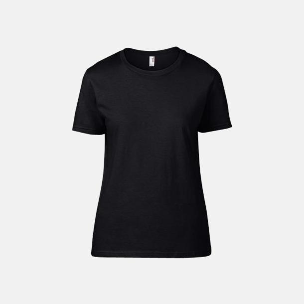 Svart (dam) Snygga bas t-shirts för herr & dam - med reklamtryck
