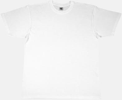 Vit Extra fina t-shirts i herr-, dam- och barnmodell med reklamtryck