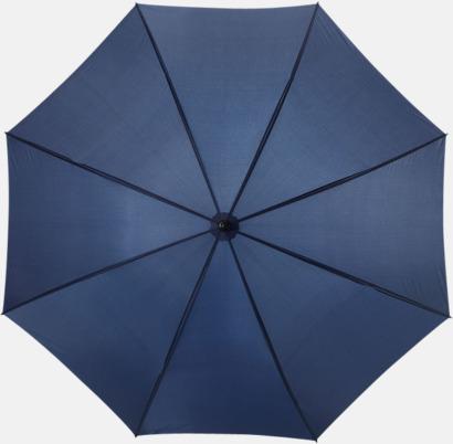 Marinblå Stora, automatiska paraplyer med reklamtryck