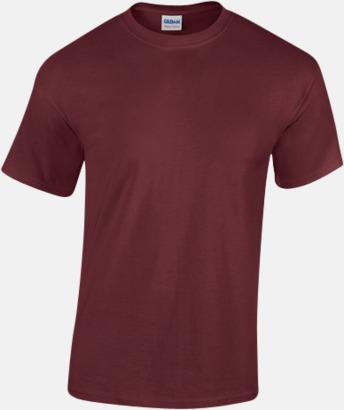 Maroon (herr) Fina bomulls t-shirts för herr, dam & barn med reklamtryck