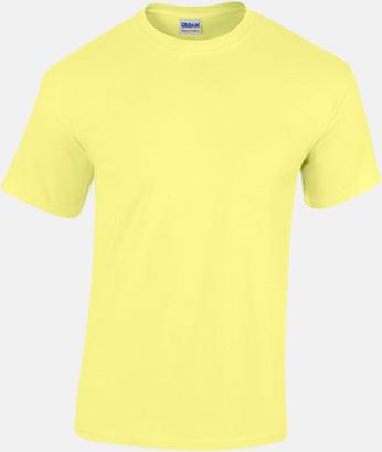 Cornsilk (herr) Fina bomulls t-shirts för herr, dam & barn med reklamtryck