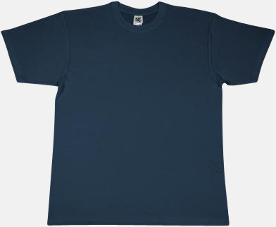 Denim Extra fina t-shirts i herr-, dam- och barnmodell med reklamtryck