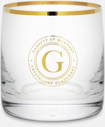 Transparent / Guld Vattenglas från Newport i 6- eller 4-pack