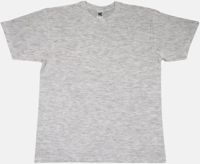 Ash Grey Extra fina t-shirts i herr-, dam- och barnmodell med reklamtryck