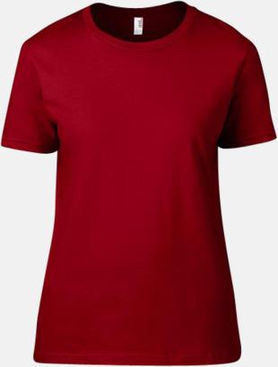 Röd (dam) Snygga bas t-shirts för herr, dam & barn - med reklamtryck