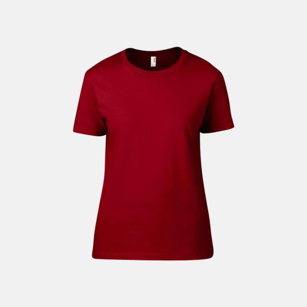 Röd (dam) Snygga bas t-shirts för herr & dam - med reklamtryck
