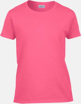 Safety Pink (dam) Fina bomulls t-shirts för herr, dam & barn med reklamtryck