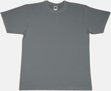 Grå Extra fina t-shirts i herr-, dam- och barnmodell med reklamtryck