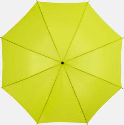 Neongrön Stora, automatiska paraplyer med reklamtryck