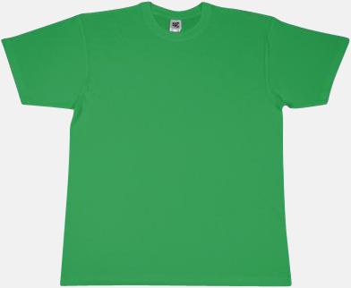 Grön Extra fina t-shirts i herr-, dam- och barnmodell med reklamtryck