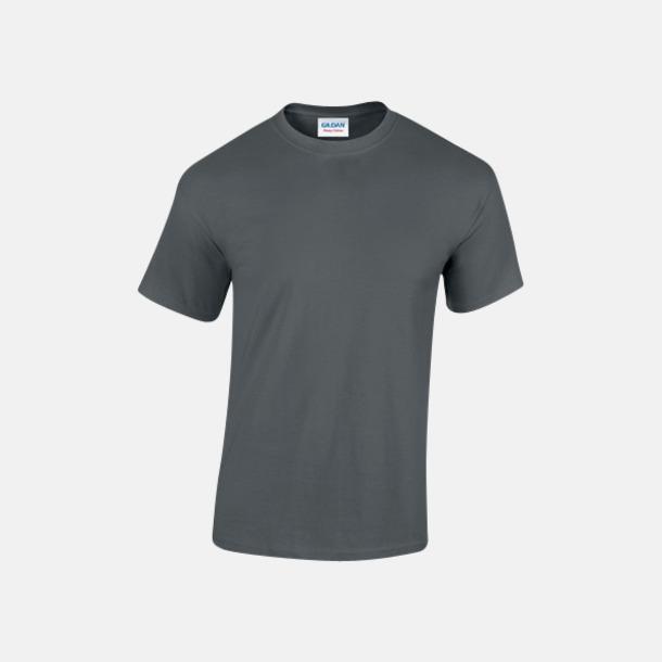 Charcoal solid (herr) Fina bomulls t-shirts för herr, dam & barn med reklamtryck