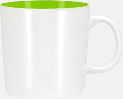 Vit/Limegrön (blank) Koppar med reklamtryck