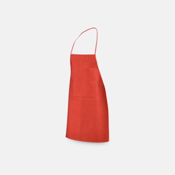 Röd Billiga förkläden med reklamtryck