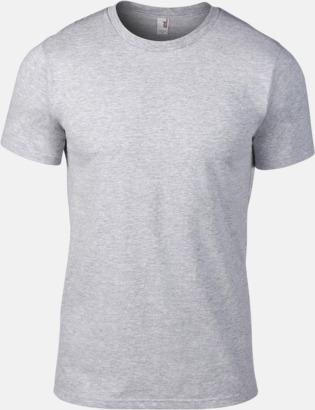 Heather Grey (herr) Snygga bas t-shirts för herr, dam & barn - med reklamtryck