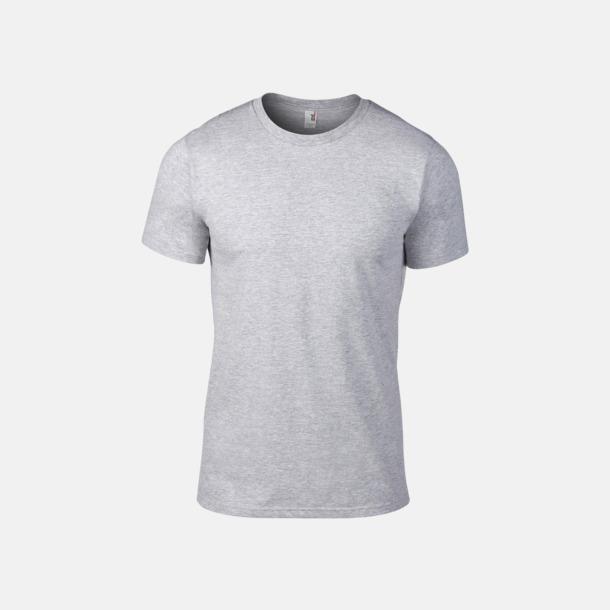 Heather Grey (herr) Snygga bas t-shirts för herr & dam - med reklamtryck