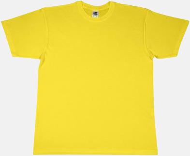 Gul Extra fina t-shirts i herr-, dam- och barnmodell med reklamtryck
