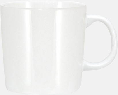 Helvit (blank) Koppar med reklamtryck