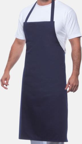 Marinblå Prisvärda förkläden med reklamtryck